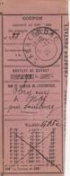 COUPON De Versement Obl SARREBOURG Du 3.11.20 - Marcophilie (Lettres)