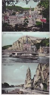 BELGIQUE - DINANT - 9 CPA  COLORIES GLACEES - Dinant