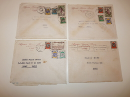 LOT 4 LETTRES A EN-TETE AGENCE FRANCE PRESSE 17 RUE CHARRAS ALGER RABAT MAROC ANNEE 1950 - Cartas