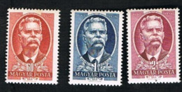 UNGHERIA (HUNGARY)  -  SG 1187.1189 -  1951 M.  GORKY, WRITER (COMPLET SET OF 3)    -   (MINT)** - Nuovi