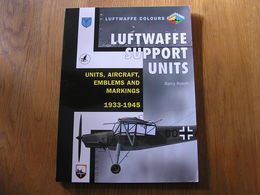 LUFWAFFE SUPPORT UNITS Aircraft Emblems And Markings 1933 1945 Guerre 40 45 Aviation Allemande Avion Storch JU 52 FW 200 - Guerre 1939-45