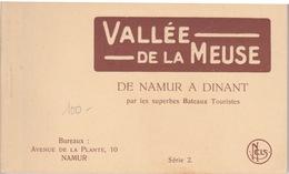 BELGIQUE -NAMUR  DINANT - CARNET COMPLET DE 10 CPA  COMPAGNIE DES BATEAUX TOURISTIQUES AVEC HORAIRE - Dinant
