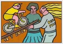 Cpm 1741/520 ERGON - La Planche Des Belles Filles - Tour De France 2020 - Vélo - Cyclisme - Bicycle - Illustrateur - Ergon