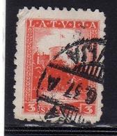 LATVIA LETTLAND LETTONIA LATVIJA 1934 RIGA CASTLE CASTELLO 3s USATO USED OBLITERE' - Lettonia