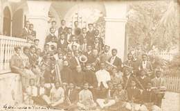 20-2447 : CARTE PHOTO. PORT AU PRINCE. MUSICIENS - Haiti