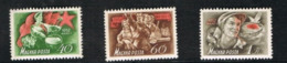 UNGHERIA (HUNGARY)  -  SG 1236.1238  - 1952 LABOUR DAY: 1ST  MAY   (COMPLET SET OF 3)      - MINT** - Ungheria