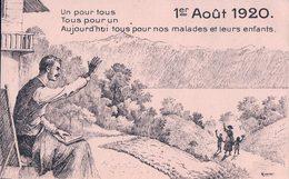 Fête Nationale Suisse 1er Août 1920, Un Pour Tous, Tous Pour Un Litho (1820) - Other