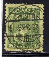 LATVIA LETTLAND LETTONIA LATVIJA 1934 ARMS AND SHIELD STEMMA ARMOIRIES 10s USATO USED OBLITERE' - Lettonia