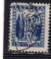 LATVIA LETTLAND LETTONIA LATVIJA 1934 MINISTRY OF FOREIGN AFFAIRS MINISTERO AFFARI ESTERI 35s USATO USED OBLITERE' - Lettonia