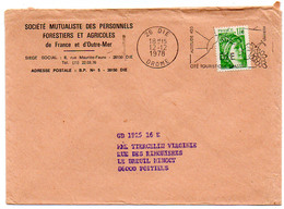 France N° 1973 Y. Et T. Drôme Die Flamme Illustrée Du 12/12/1978 Sur Lettre - 1961-....