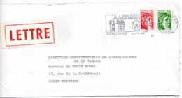 France N° 1973 Et 2059 Y. Et T. Orne Alençon Flamme Illustrée Du 14/03/1980 Sur Lettre - 1961-....