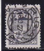 LATVIA LETTLAND LETTONIA LATVIJA 1921 1922 ARMS AND STARS FOR VIDZEME KURZEME LATGALE STEMMA 50k USATO USED OBLITERE' - Lettonia