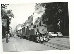 CPSM Carte Photo BVA 48/13113 Luxembourg - Ville Train Tracté Par Une Locomotive Mallet 020 + 0.20 8/8/53 Photo Bazin - Luxembourg - Ville
