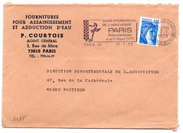 France N° 1975 Y. Et T. Paris 10 Flamme Illustrée Du 17/01/1979 Sur Lettre - 1961-....