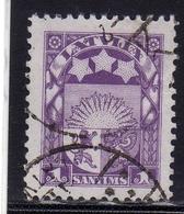 LATVIA LETTLAND LETTONIA LATVIJA 1923 1925 ARMS AND STARS FOR VIDZEME KURZEME LATGALE STEMMA 1s USATO USED OBLITERE' - Lettonia