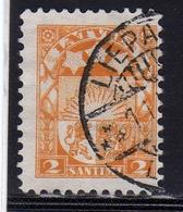 LATVIA LETTLAND LETTONIA LATVIJA 1923 1925 ARMS AND STARS FOR VIDZEME KURZEME LATGALE STEMMA 2s USATO USED OBLITERE' - Lettonia