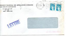 France N° 1976 Y. Et T. Maine Et Loire Angers Flamme Ondulée Du 14/09/1982 Sur Lettre - 1961-....