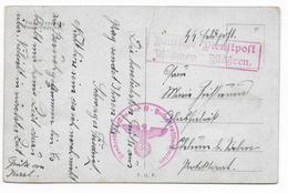 SS FELDPOST  - CARTE Du SONDERBATAILLON DER SS - TOTENKOPFSTANDARTEN ! CHARGES Des CAMPS De CONCENTRATION - PRAGUE - Lettres & Documents