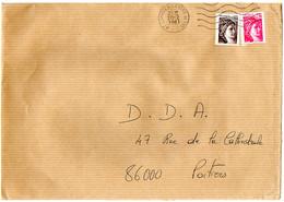 France N° 1978 Et 2118 Y. Et T. Hte Vienne Limoges Flamme Ondulée Du 20/02/1981 Sur Lettre - 1961-....