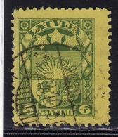 LATVIA LETTLAND LETTONIA LATVIJA 1923 1925 ARMS AND STARS FOR VIDZEME KURZEME LATGALE STEMMA 6s USATO USED OBLITERE' - Lettonia