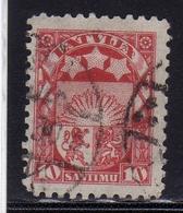LATVIA LETTLAND LETTONIA LATVIJA 1923 1925 ARMS AND STARS FOR VIDZEME KURZEME LATGALE STEMMA 10s USATO USED OBLITERE' - Lettonia