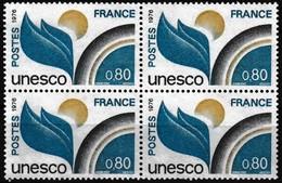Bloc De 4 Timbres De Service Neuf** - U.N.E.S.C.O. - N° 50 (Yvert) - France 1976 - Service