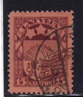 LATVIA LETTLAND LETTONIA LATVIJA 1923 1925 ARMS AND STARS FOR VIDZEME KURZEME LATGALE STEMMA 15s USATO USED OBLITERE' - Lettonia