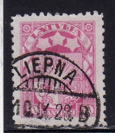LATVIA LETTLAND LETTONIA LATVIJA 1923 1925 ARMS AND STARS FOR VIDZEME KURZEME LATGALE STEMMA 30s USATO USED OBLITERE' - Lettonia