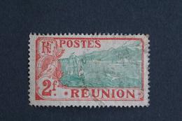 REUNION 1907 SAINTE-ROSE Et LE VOLCAN Y&T NO70  2fr ROUGE ET VERT OBLI B... - Réunion (1852-1975)