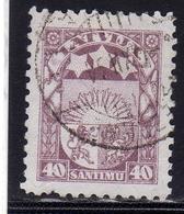 LATVIA LETTLAND LETTONIA LATVIJA 1923 1925 ARMS AND STARS FOR VIDZEME KURZEME LATGALE STEMMA 40s USATO USED OBLITERE' - Lettonia