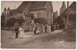 Carte Photo Par Charrouin Imbert CERTAIN TOURS Mariage Epicerie Mercerie Decharles Braquier 37 LE LOUROUX - France