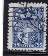 LATVIA LETTLAND LETTONIA LATVIJA 1927 1933 ARMS AND STARS FOR VIDZEME KURZEME LATGALE STEMMA 35s USATO USED OBLITERE' - Lettonia