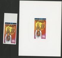 DJIBOUTI POSTE AERIENNE N° 121 Et 122,  2 BLOCS DE LUXE SUR PAPIER GLACE COUPE DU MONDE DE FOOTBALL 1978 TB - Coppa Del Mondo