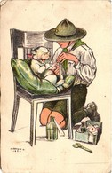 Scouts, Márton L., Marton L., Scout Helping For A Wounded Dog, Old Postcard - Scouting