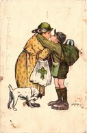 Scouts, Márton L., Marton L., Scout Saying Goodbye To His Mom, Old Postcard - Scouting
