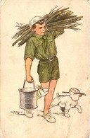 Scouts, Márton L., Marton L., The Scout Faithfully Fulfills His Duty, Old Postcard - Scouting