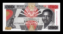 Tanzania 200 Shilingi 1993 Pick 25b SC UNC - Tanzania