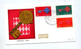 Lettre Fdc 1968 Europa - FDC