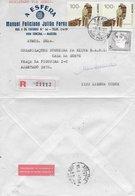 TIMBRES - STAMPS - LETTRE RECOMMANDÉ - PORTUGAL -TRISTÃO VAZ TEIXEIRA  (DECOUVRIR L'ÎLE DE MADEIRA) ET COOPER DES AÇORES - 1910-... República