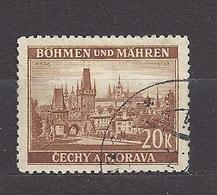 Bohemia & Moravia Böhmen Und Mähren 1939 Gest ⊙ Mi 37 Sc 39 Cities And Castles I. Städte I. German Occupation. - Gebraucht