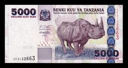 Tanzania 5000 Shillings Rhinoceros 2003 Pick 38 SC UNC - Tanzanie