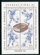 ROMANIA 1998 Football World Cup Block MNH / **.  Michel Block 310 - Blocks & Kleinbögen