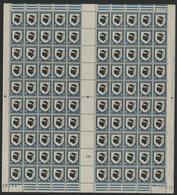 "N° 755 Feuille Complète De 100 Ex. ""Corse"". Neufs ** (MNH). Avec Coin Daté Du 5/11/46 - Ganze Bögen"