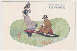 Im Schwankenden Ehekahne      (A-188-191016) - Autres Illustrateurs