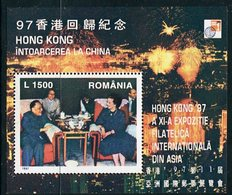 ROMANIA 1997 HONG KONG '97 Exhibition Block MNH / **.  Michel Block 305 - Blocks & Kleinbögen