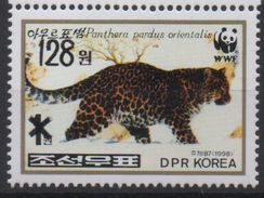 North Korea Corée Du Nord 2006 Mi. 5101 Surchargé OVERPRINT Faune Fauna Panther Panthère Leopard WWF MNH** RARE - Neufs