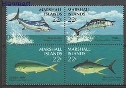 Marshall Islands 1986 Mi 92-95 MNH ( ZS7 MRIvie92-95 ) - Peces