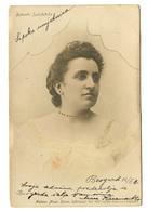 Serbian Actress Vukosava Jurković Old Photopostard Posted 1905 Beograd To Zagreb B200225 - Serbie