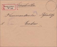 DR Dienst: Einschreiben Feldpost An Kommandanten Grodno 1918 - Officials