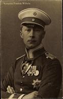 Cp Kronprinz Wilhelm Von Preußen, Portrait - Familles Royales